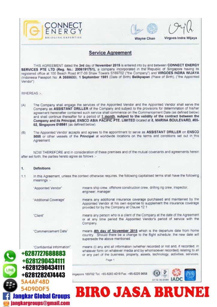 service agreement brunei