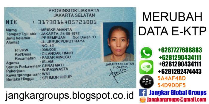 Merubah data status perkawinan e ktp