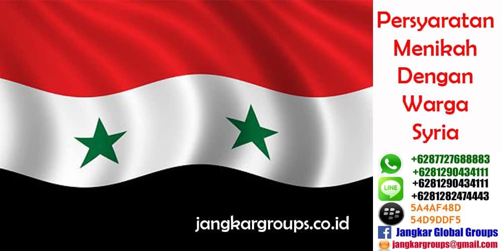 Persyaratan menikah dengan warga Syria