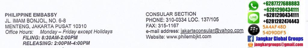 alamat kedutaan philipina