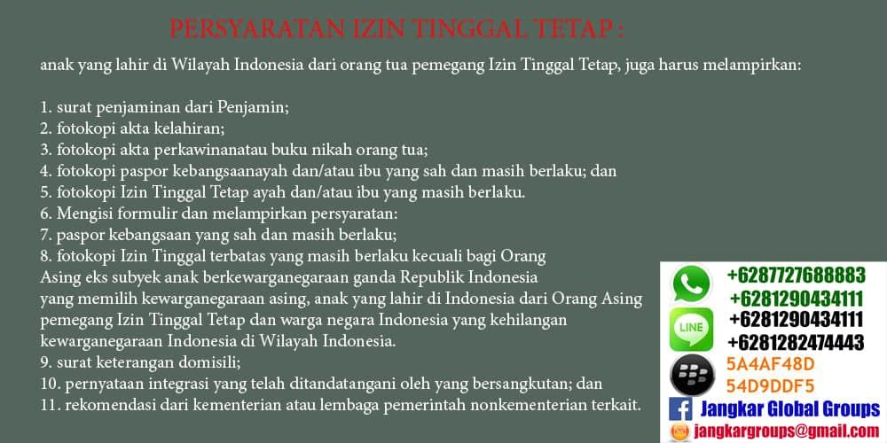 itap anak yang lahir di indonesia