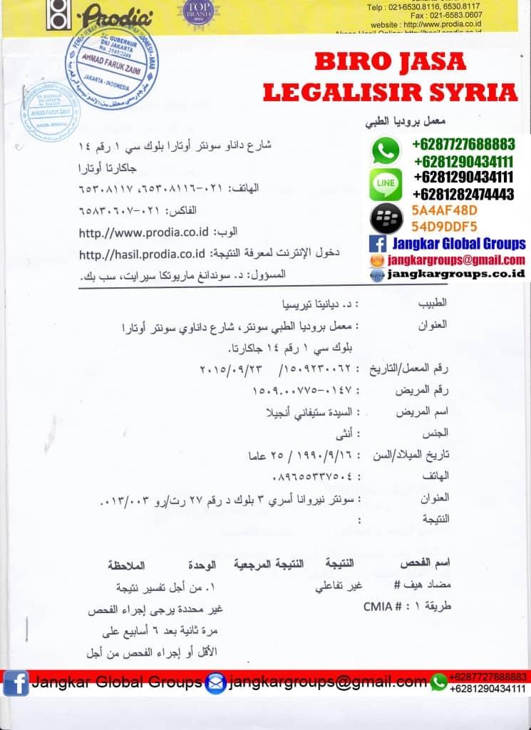 kedutaan syria di jakarta
