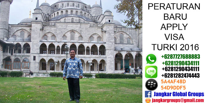 peraturan baru apply visa turki