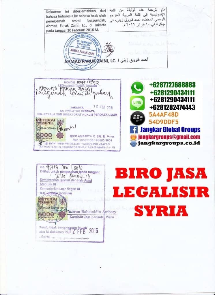 persyaratan menikah syria