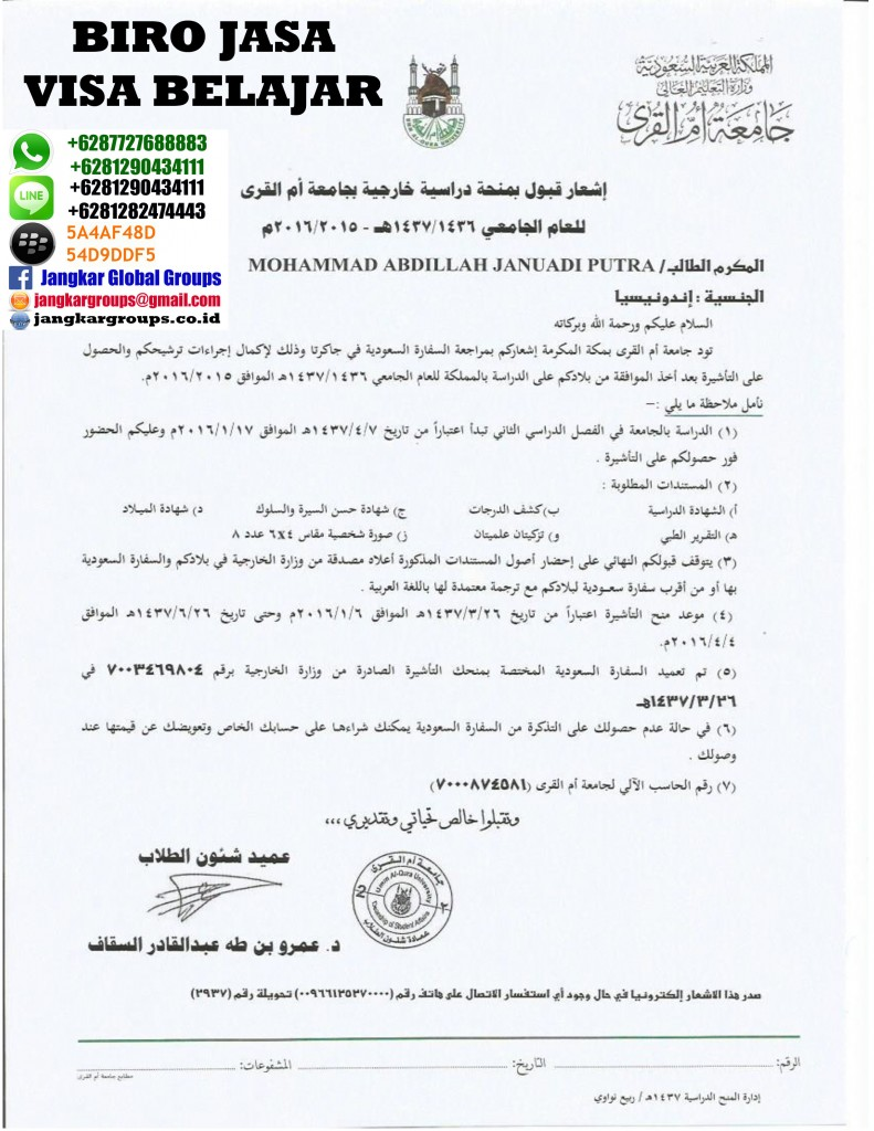 Invitation Letter Study To Saudi