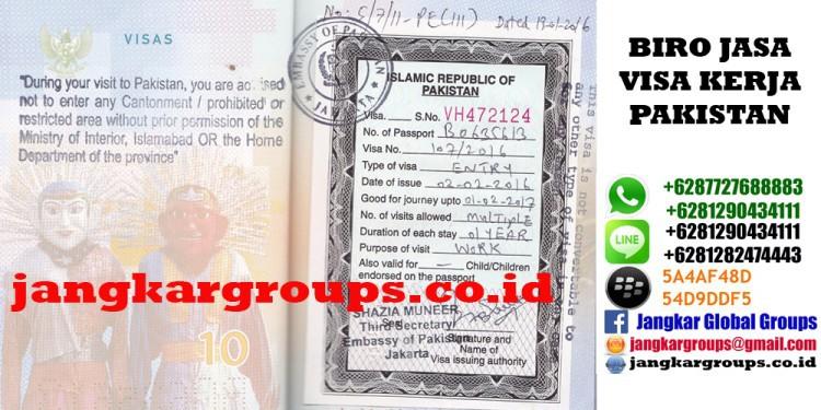 persyaratan visa kerja pakistan