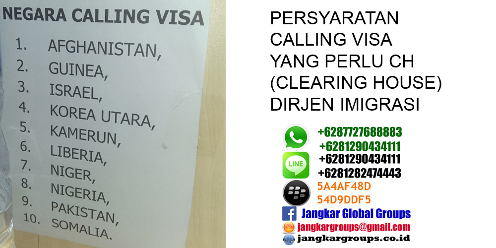 persyaratan visa kunjungan