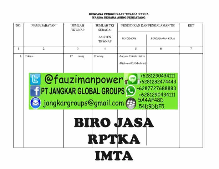 uraian dan jabatan Form RPTKA_003