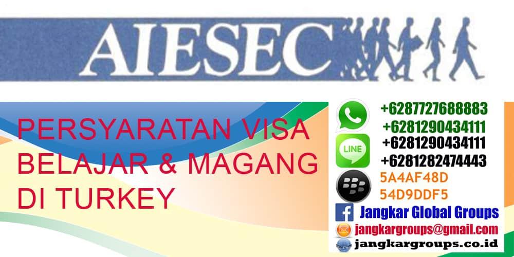 persyaratan visa belajar turki