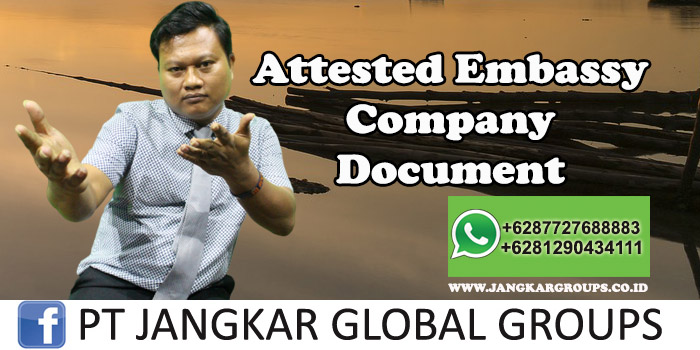 Attested Embassy Company Document