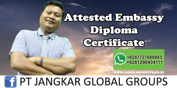 Attested Embassy Diploma Certificate