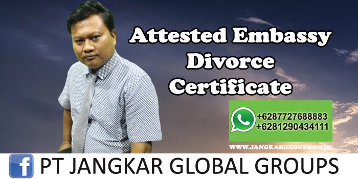 Attested Embassy Divorce Certificate