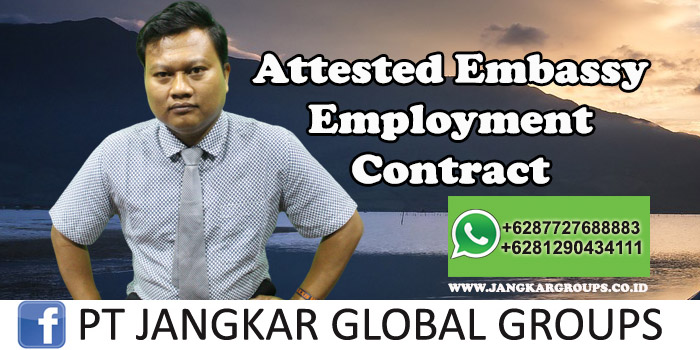 Attested Embassy Employment Contract