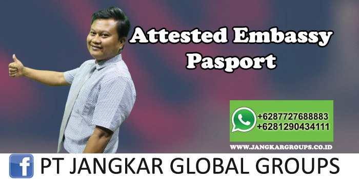 Attested Embassy Pasport
