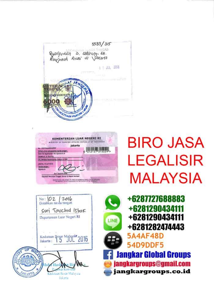legalisir ijazah di kedutaan malaysia