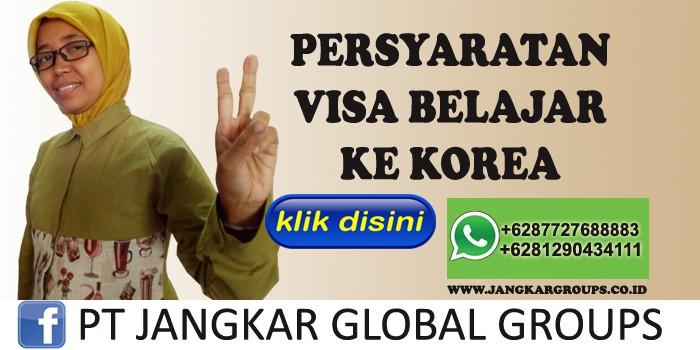 persyaratan visa belajar ke korea