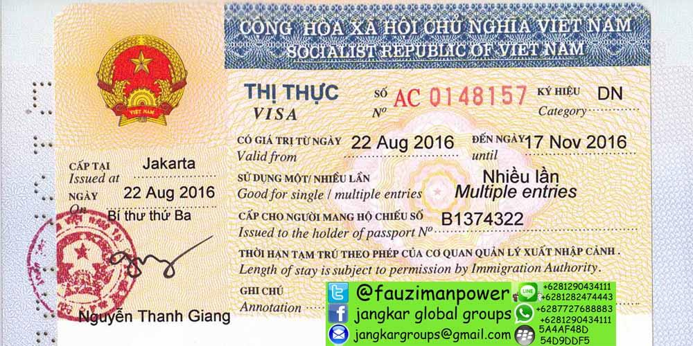 persyaratan visa kerja vietnam