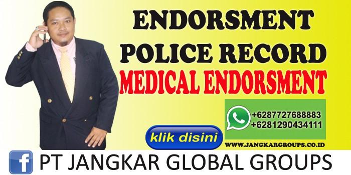 endorsment police record medical endorsment