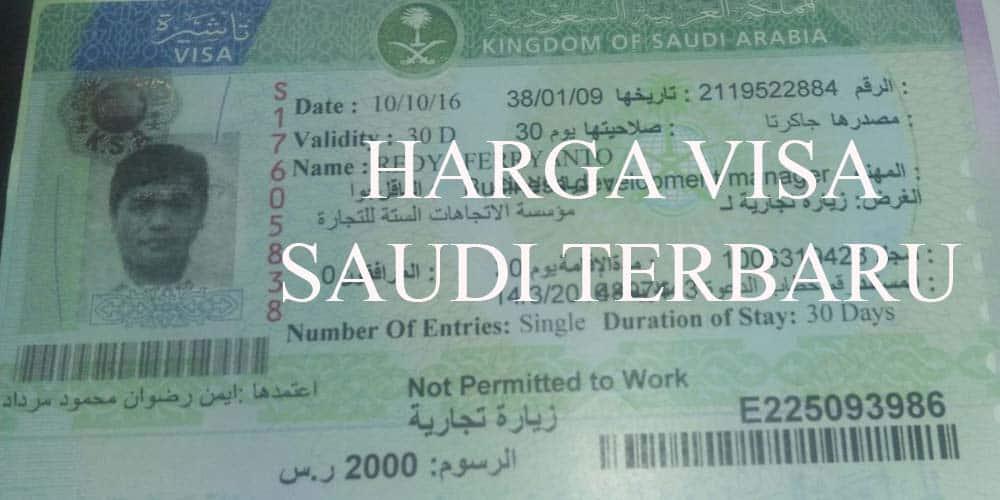 harga visa saudi terbaru