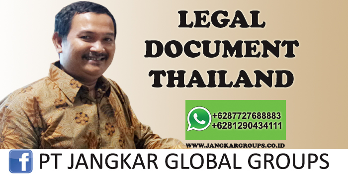 legal document thailand