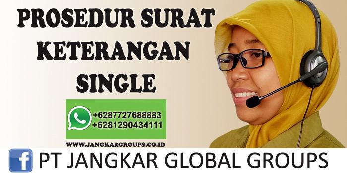 surat keterangan single