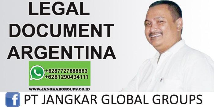 legal document argentina