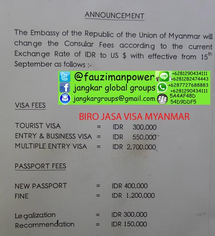 biaya-visa-myanmar
