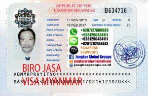 PERSYARATAN VISA BISNIS MYANMAR