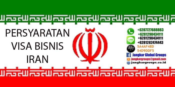 persyaratan visa bisnis iran