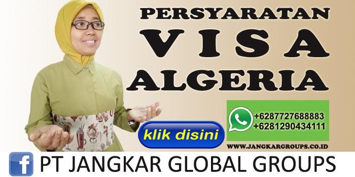 persyaratan visa algeria