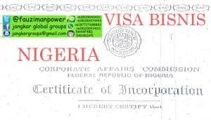 PERSYARATAN VISA BISNIS NIGERIA