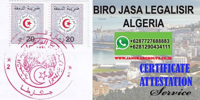 biro jasa legalisir attestation algeria