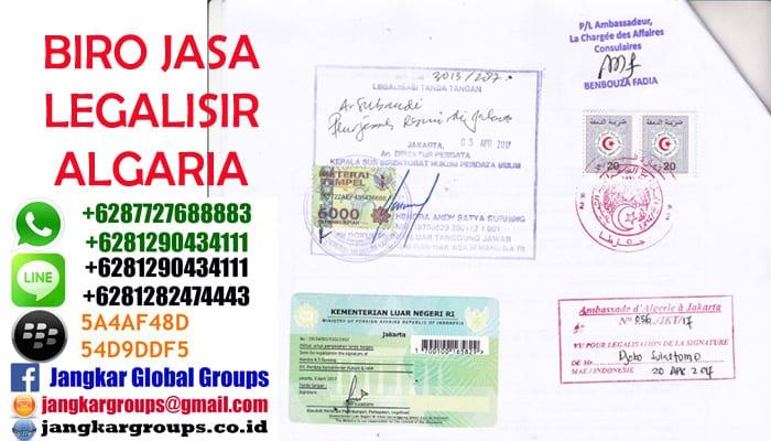 biro jasa legalisir di kedutaan algeria