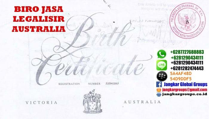 biro jasa legalisir kedutaan australia