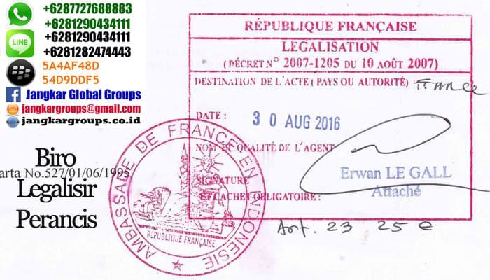 legalisir akta kelahiran di kedutaan perancis
