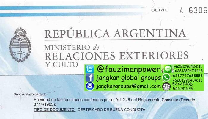 persyaratan visa kerja argentina untuk pelaut