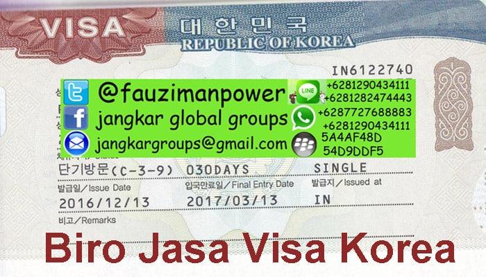 persyaratan visa turis korea satu keluarga