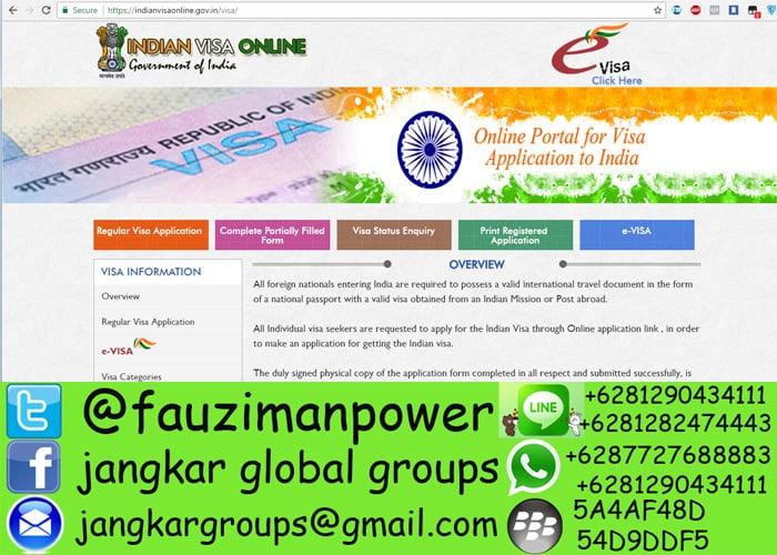 persyaratan visa bisnis india