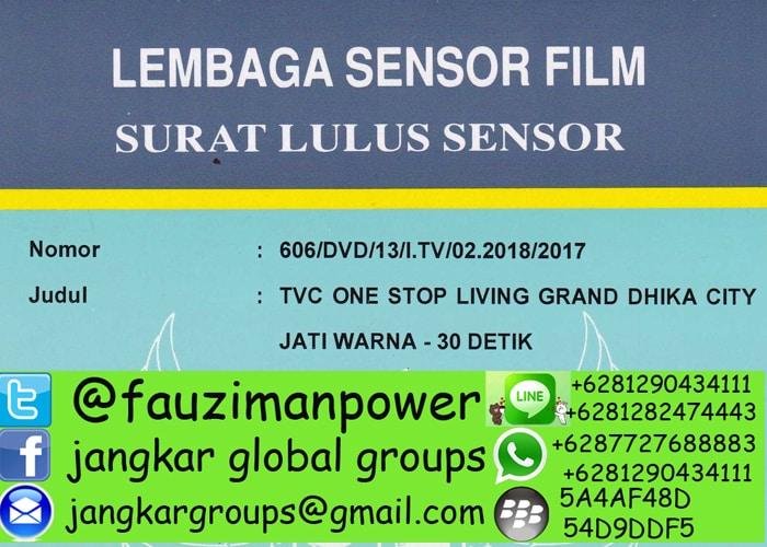 persyaratan lulus sensor film
