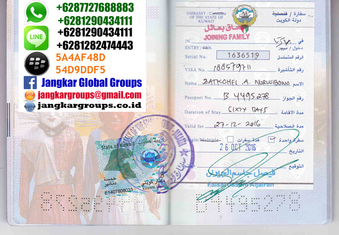 persyaratan visa family ke kuwait
