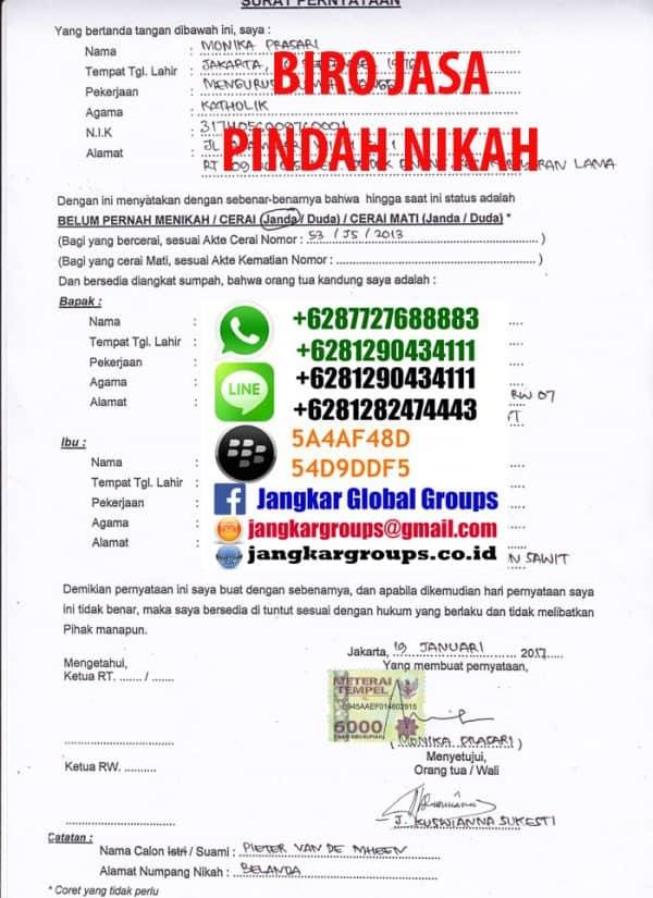 Contoh Gambar Surat Numpang Nikah Detil Gambar Online