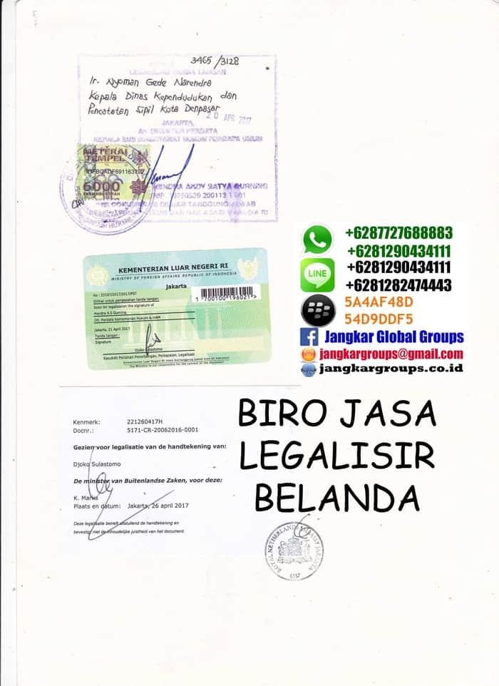 Legalisir akta perceraian di kedutaan belanda