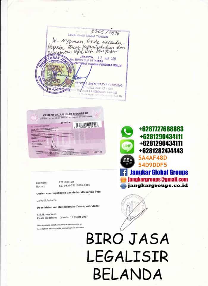 Legalisir akta perkawinan di kedutaan belanda