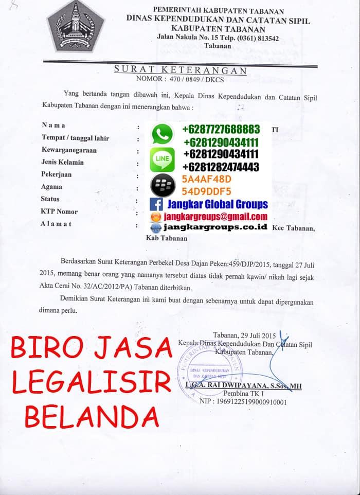 Legalisir skbm disduk capil di kedutaan belanda