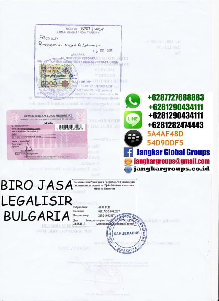 biro jasa legalisir bulgaria
