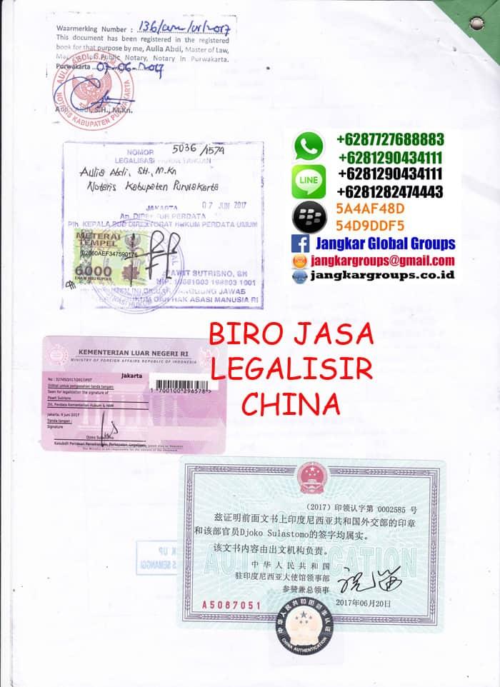 Legalisir Medikal China