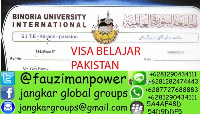 persyaratan visa belajar ke pakistan