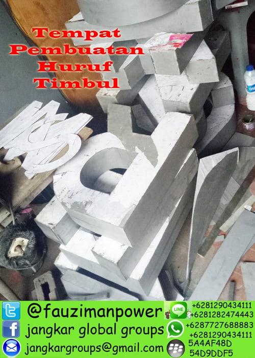 tempat pembuatan huruf timbul