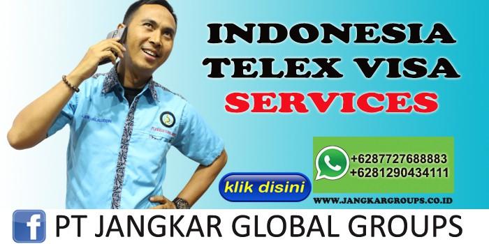 INDONESIA TELEX VISA SERVICES