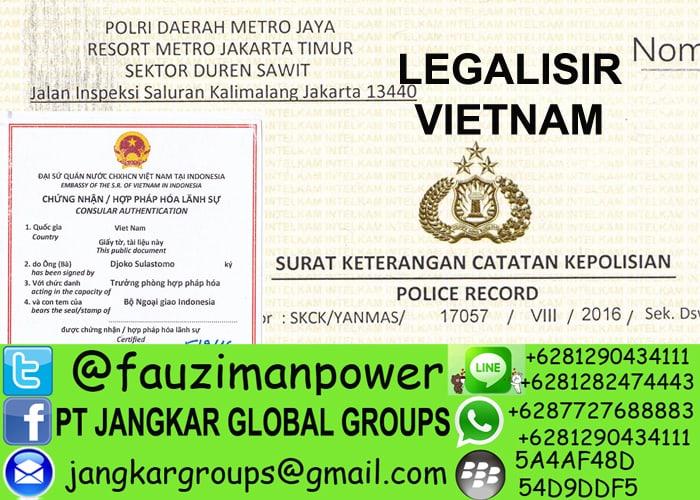 legalisir skck di kedutaan vietnam